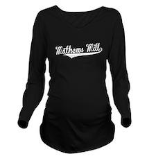 Mathews Mill, Retro, Long Sleeve Maternity T-Shirt