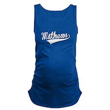 Mathews, Retro, Maternity Tank Top