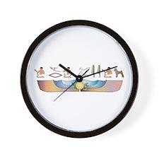 Pumi Hieroglyphs Wall Clock