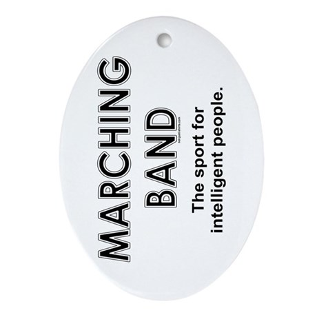 Marching Band Oval Ornament