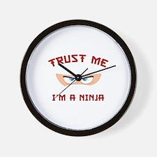 Trust Me, I'm A Ninja Wall Clock