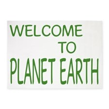 WELCOME TO PLANET EARTH 003 5'x7'Area Rug