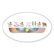 Pug Hieroglyphs Oval Decal