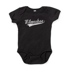 Milwaukee, Retro, Baby Bodysuit