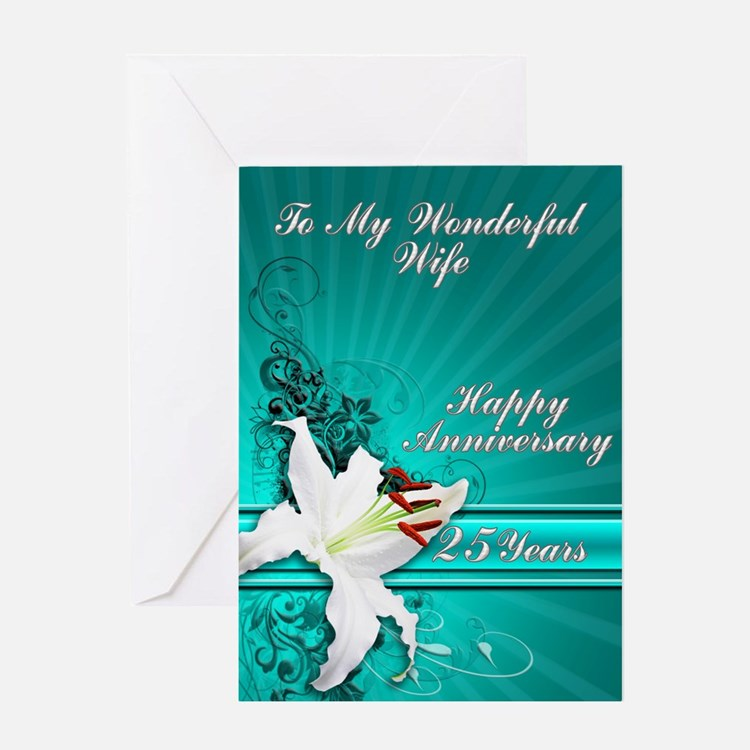 25th Wedding Anniversary Greeting Cards Card Ideas