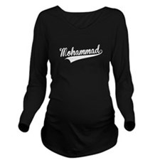 Mohammad, Retro, Long Sleeve Maternity T-Shirt