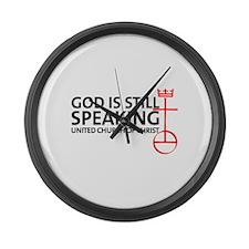 God Is Still Speaking Large Wall Clock