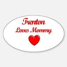 Trenton Loves Mommy Oval Decal