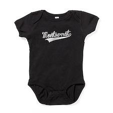 Montserrat, Retro, Baby Bodysuit