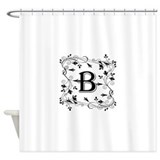 Letter b Shower Curtains