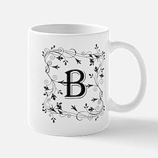 Letter B Leafy Border Mugs
