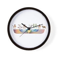 PLS Hieroglyphs Wall Clock