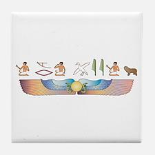 PLS Hieroglyphs Tile Coaster