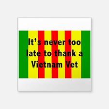 "Vietnam Vet Square Sticker 3"" x 3"""