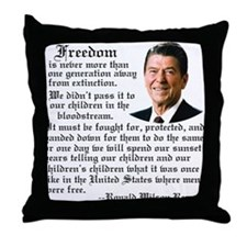 Ronald Reagan on Freedom Throw Pillow