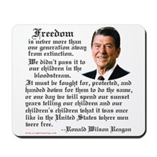 Ronald Reagan on Freedom Mousepad