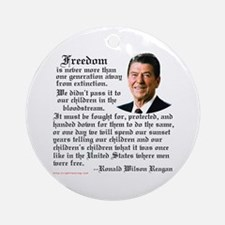 Ronald Reagan on Freedom Ornament (Round)