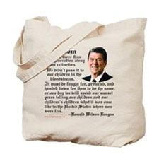 Ronald Reagan on Freedom Tote Bag