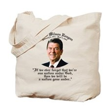 Ronald Reagan Nation under God Tote Bag