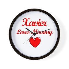 Xavier Loves Mommy Wall Clock