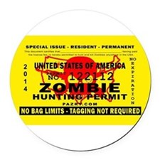 Funny Zombies Round Car Magnet