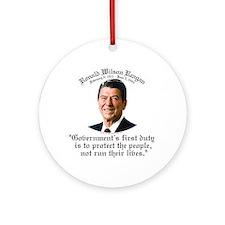 Ronald Reagan Govt's Duty Ornament (Round)