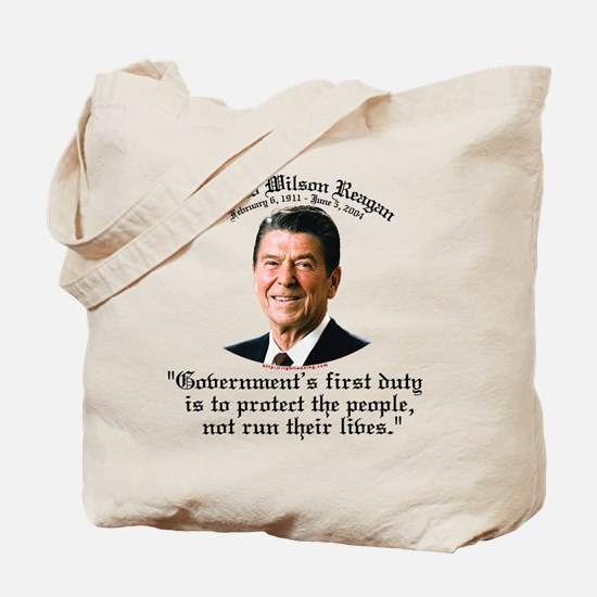 Ronald Reagan Govt's Duty Tote Bag