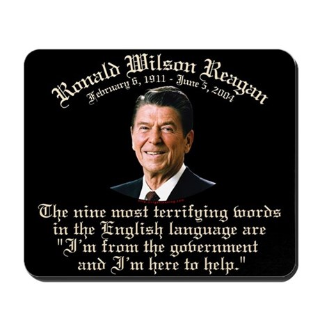 Reagan 9 Terrifying Words Mousepad
