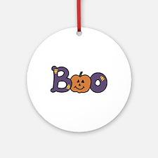 Halloween Boo Ornament (Round)