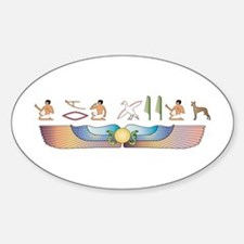 Pharaoh Hieroglyphs Oval Decal