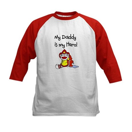 Sock Monkey Hero Dad Kids Baseball Jersey
