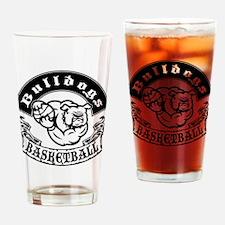 Bulldogs Basketball Drinking Glass