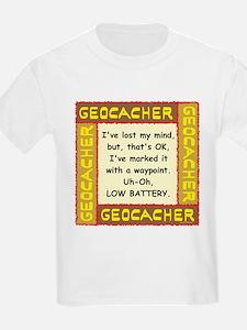 Brown Geocacher Lost Mind T-Shirt