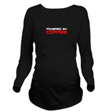 Powered By Coffee Long Sleeve Maternity T-Shirt