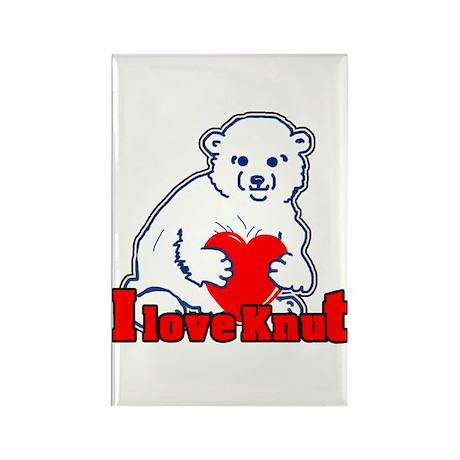 I Love Knut Rectangle Magnet (100 pack)