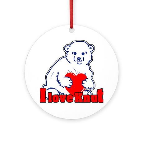 I Love Knut Ornament (Round)