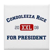 Condoleeza Rice for President Tile Coaster