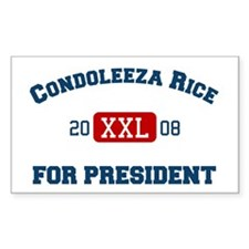Condoleeza Rice for President Sticker (Rectangular