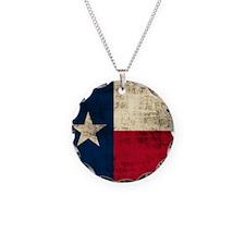 Grunge Texas Flag Necklace