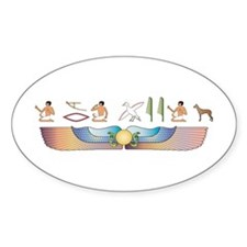PIO Hieroglyphs Oval Decal