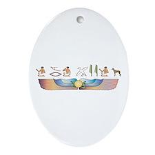 PIO Hieroglyphs Oval Ornament
