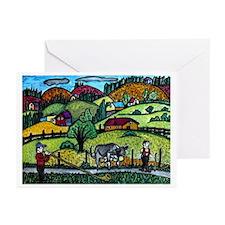 Appenzeller Swiss Horn P Greeting Cards (Pk of 20)