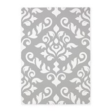 Baroque Damask Wg Design 5'x7'area Rug