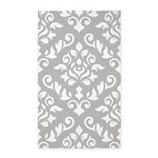 Baroque Damask Wg Design 3'x5' Area Rug