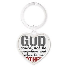 GOD - Mothers Heart Keychain