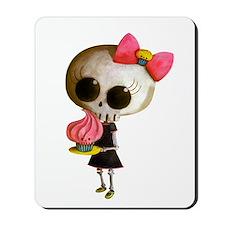 Skeleton Girl with Cupcake Mousepad