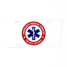 EMS (You Call, We Haul) Aluminum License Plate