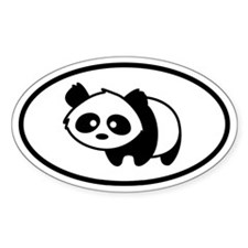 Little Panda Oval Oval Decal