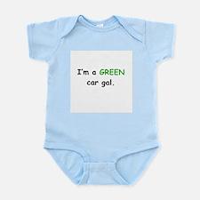 GREEN Car Gal Infant Bodysuit