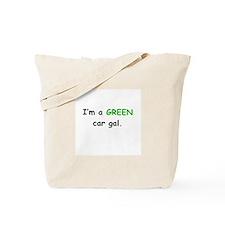 *GREEN Car Gal Tote Bag